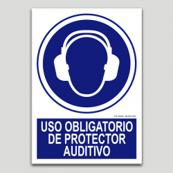 Uso obligatorio de protector auditivo