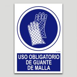 Uso obligatorio de guante de malla
