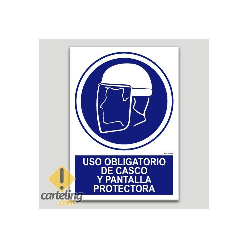 Ús obligatori de casc i pantalla protectora