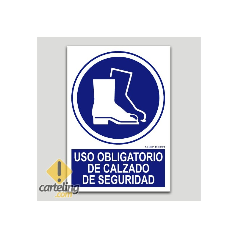 Uso obligatorio de calzado de seguridad