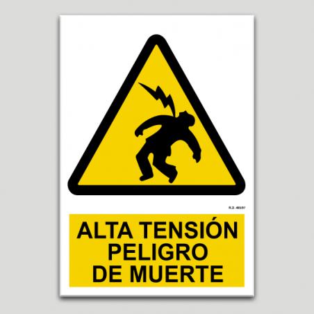 Alta tensión, peligro de muerte