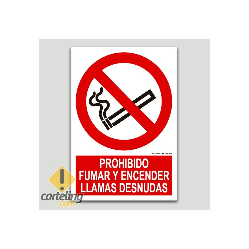 Prohibit fumar i encendre flames nues