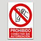 Prohibit connectar sense autorització