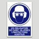 Ús obligatori de casc, ulleres i protectors auditius