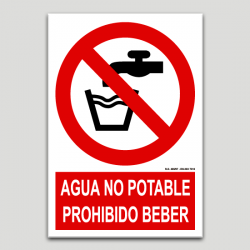 Aigua no potable prohibit beure