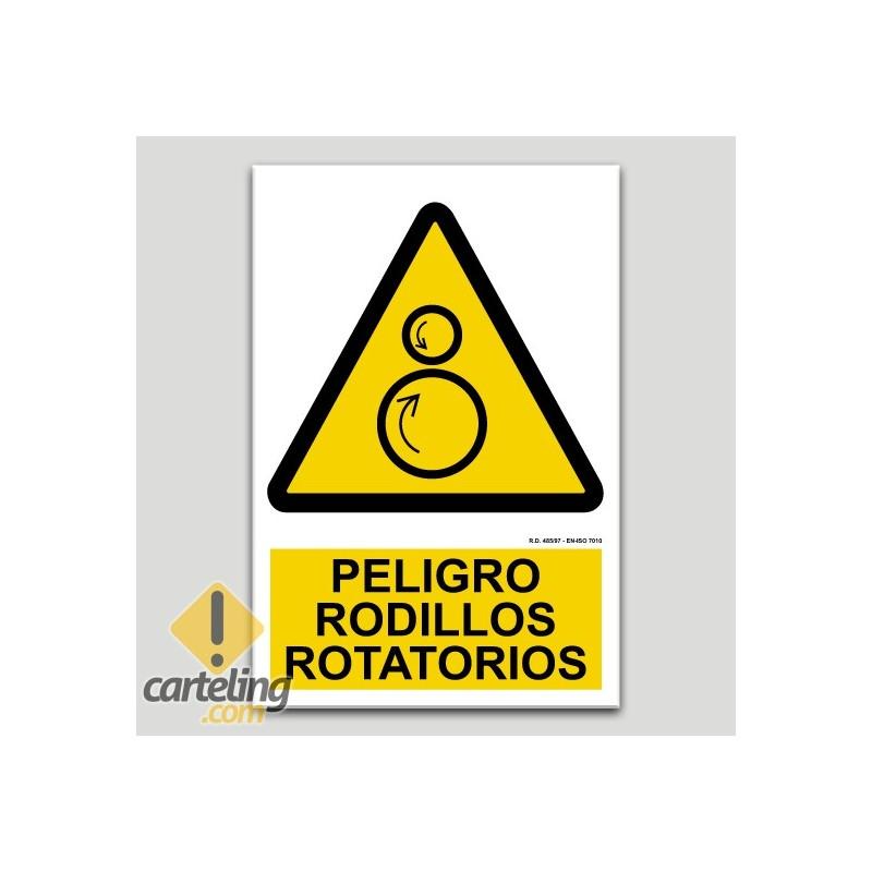 Peligro rodillos rotatorios
