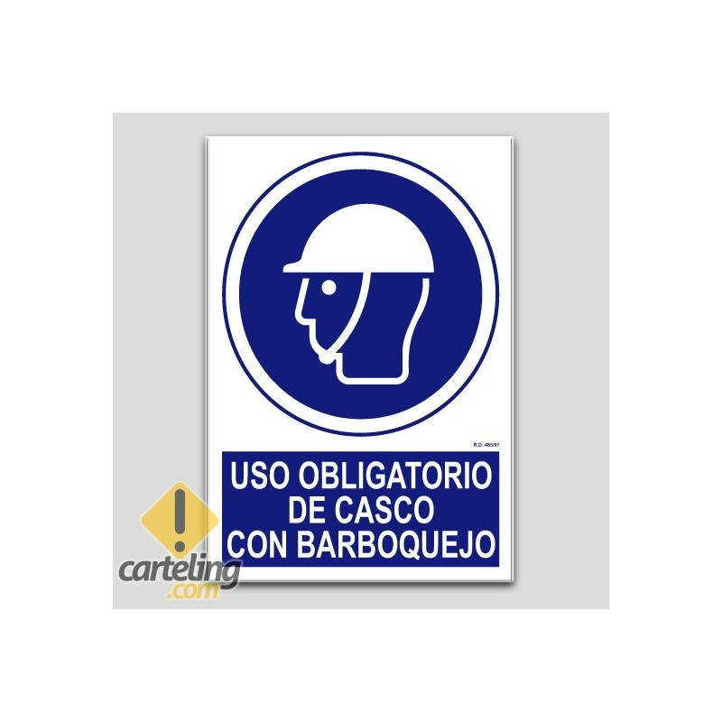 Uso obligatorio de casco con barboquejo