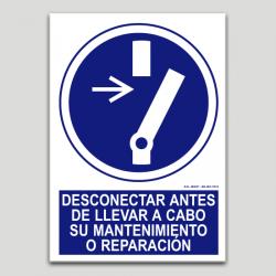 Desconnectar abans de dur a terme el seu manteniment o reparació