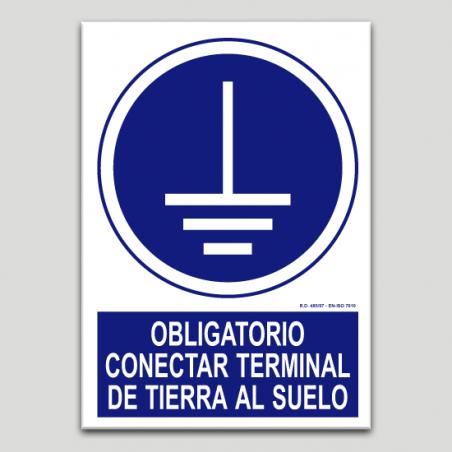 Obligatorio conectar terminal de tierra al suelo