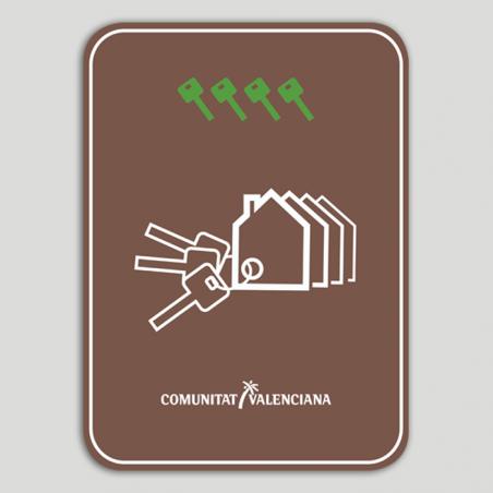 Placa distintivo Conjunto viviendas turísticas cuatro llaves - Comunidad Valenciana