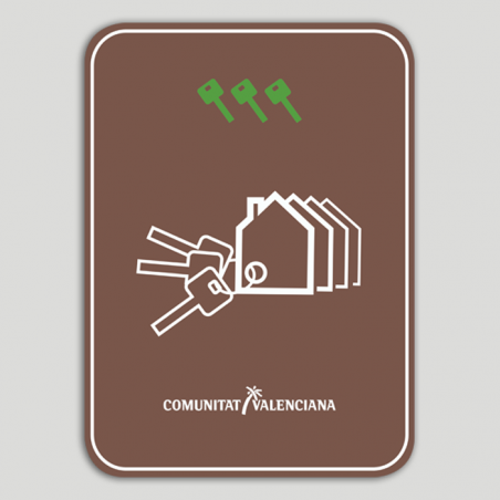 Placa distintivo Conjunto viviendas turísticas tres llaves - Comunidad Valenciana