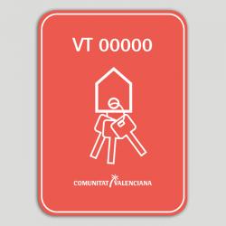 Adhesivo -Distintivo Vivienda turística (con número de registro) - Comunidad Valenciana