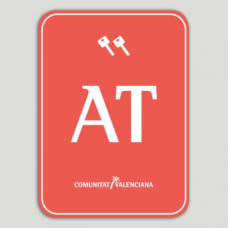 Placa distintivo Bloque viviendas turísticas dos llaves - Comunidad Valenciana
