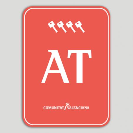 Placa distintivo Bloque viviendas turísticas cuatro llaves - Comunidad Valenciana