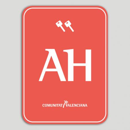 Placa distintivo Apartotel dos llaves - Comunidad Valenciana