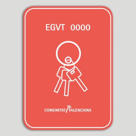 Placa distintivo Empresa gestora de viviendas turísticas (con número de registro) - Comunidad Valenciana