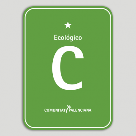 Placa distintivo Camping Ecológico una estrella - Comunidad Valenciana