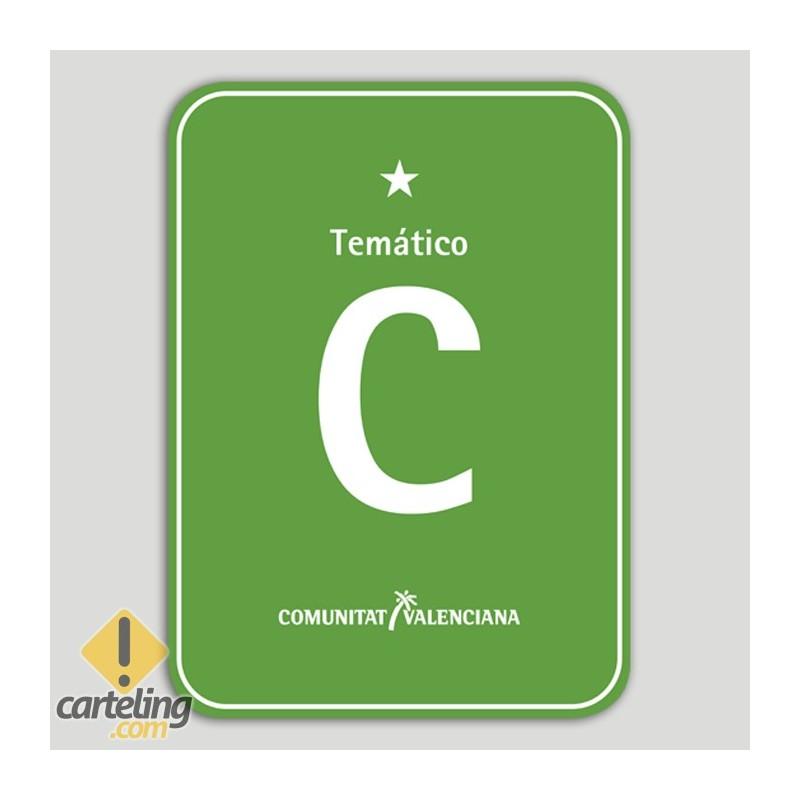 Placa distintivo Camping Temático una estrella - Comunidad Valenciana