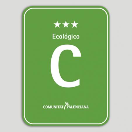 Placa distintivo Camping Ecológico tres estrellas - Comunidad Valenciana