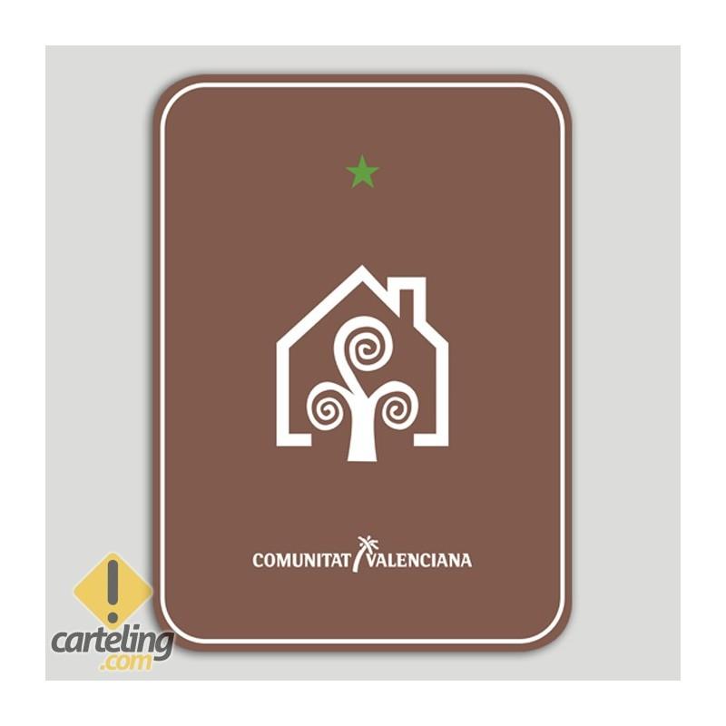Placa distintivo Casa Rural una estrella - Comunidad Valenciana