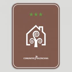 Placa distintivo Casa Rural tres estrellas - Comunidad Valenciana