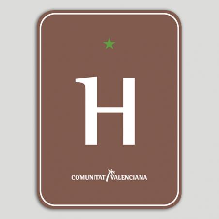 Placa distintivo Hotel Rural una estrella - Comunidad Valenciana