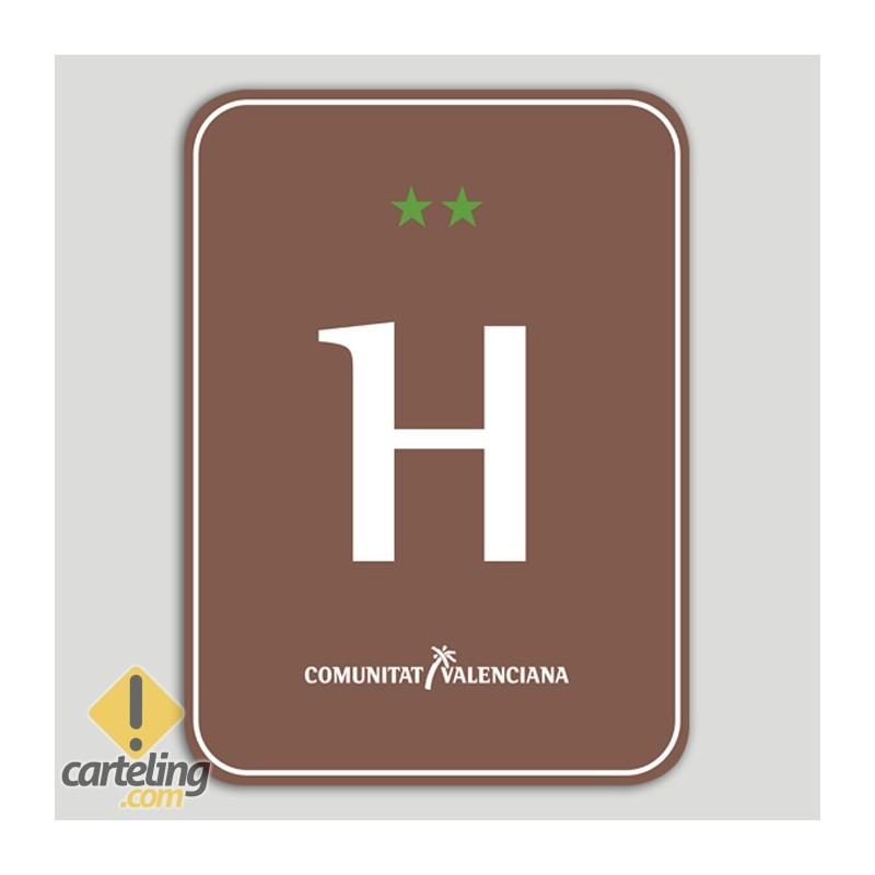 Placa distintivo Hotel Rural dos estrellas - Comunidad Valenciana