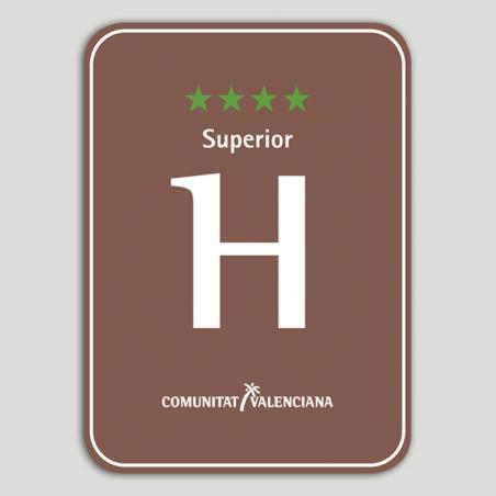 Placa distintivo Hotel Rural cuatro estrellas superior - Comunidad Valenciana