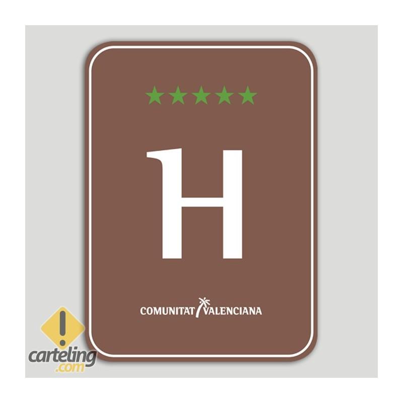 Placa distintivo Hotel Rural cinco estrellas - Comunidad Valenciana