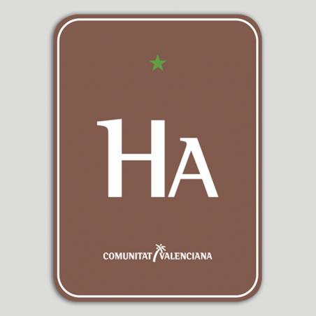 Placa distintivo Hotel Apartamento Rural una estrella - Comunidad Valenciana