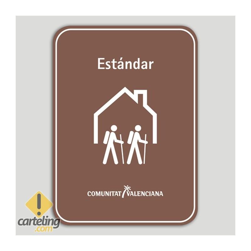Placa distintivo Albergue turístico rural estándar - Comunidad Valenciana