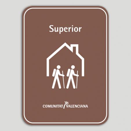 Placa distintivo Albergue turístico rural superior - Comunidad Valenciana