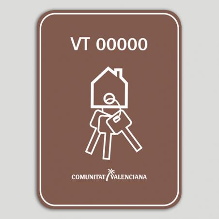 Distintivo Vivienda Turística Rural VT con número de registro - Comunidad Valenciana