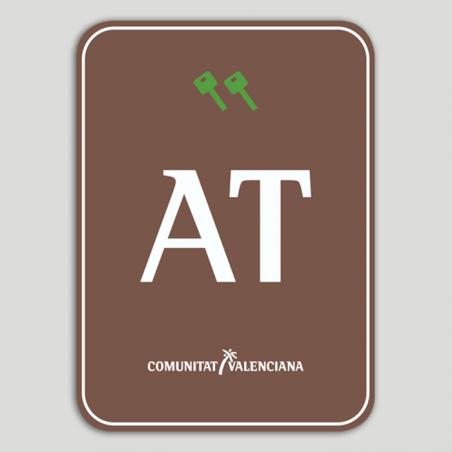 Placa distintivo Bloque viviendas turísticas rural dos llaves - Comunidad Valenciana
