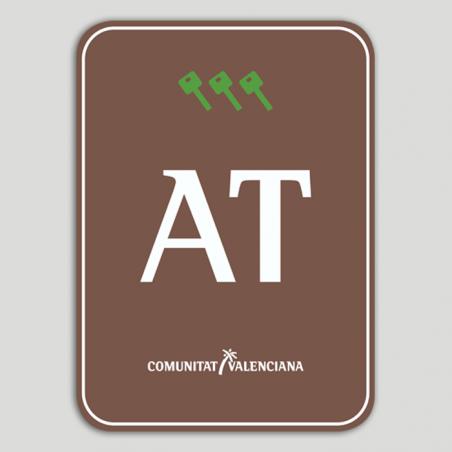 Placa distintivo Bloque viviendas turísticas rural tres llaves - Comunidad Valenciana