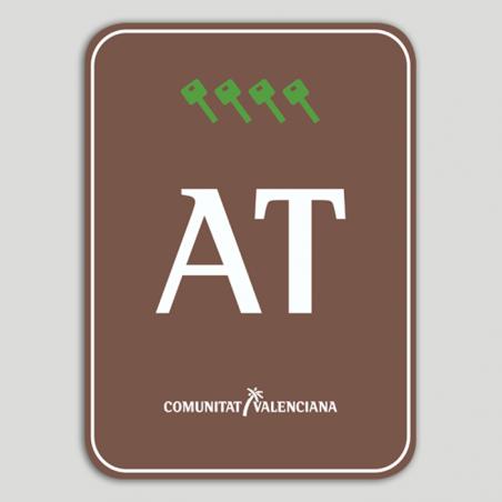 Placa distintivo Bloque viviendas turísticas rural cuatro llaves - Comunidad Valenciana