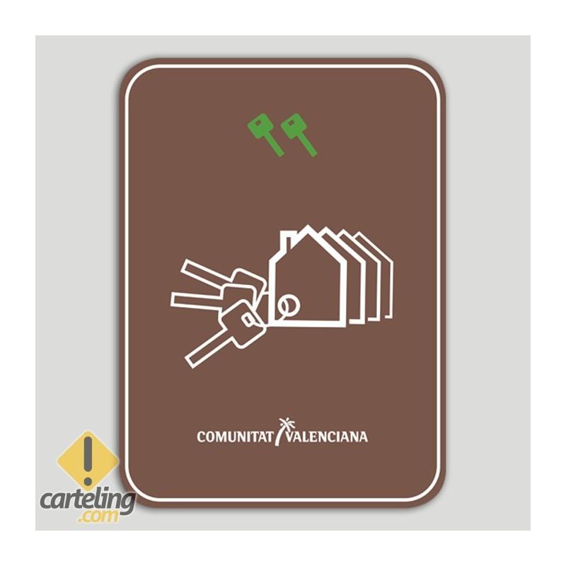 Placa distintivo Conjunto viviendas turísticas dos llaves - Comunidad Valenciana