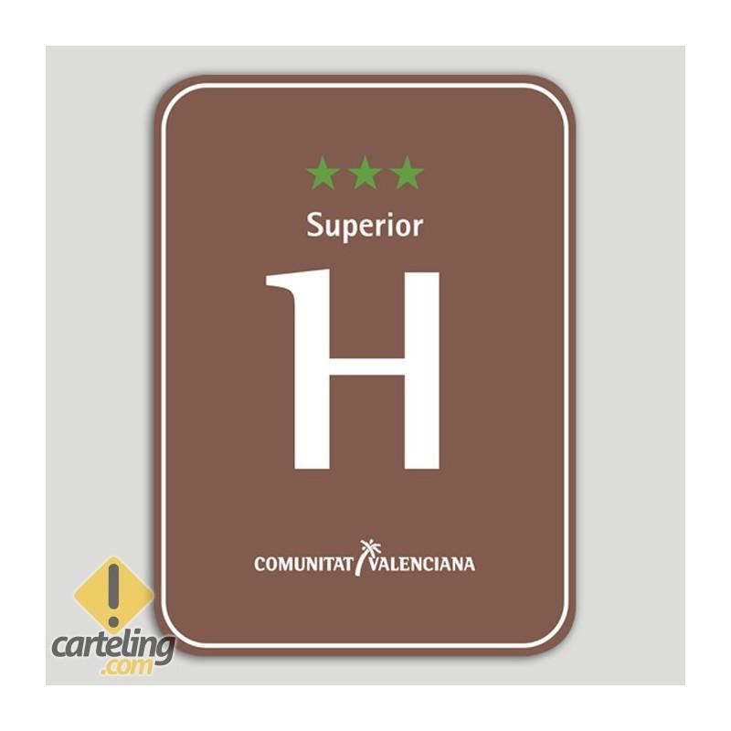 Placa distintivo Hotel Rural tres estrellas superior - Comunidad Valenciana