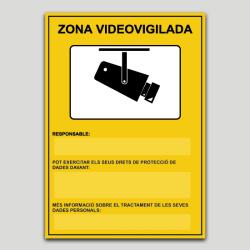Zona Videovigilada personalitzable