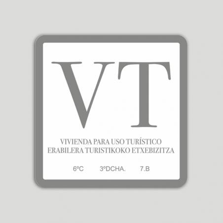 Placa exterior de vivienda de uso turístico VT - Euskadi