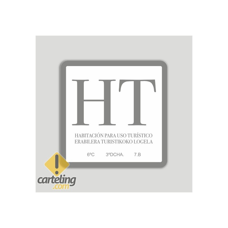 Placa exterior de habitación de uso turístico HT - Euskadi