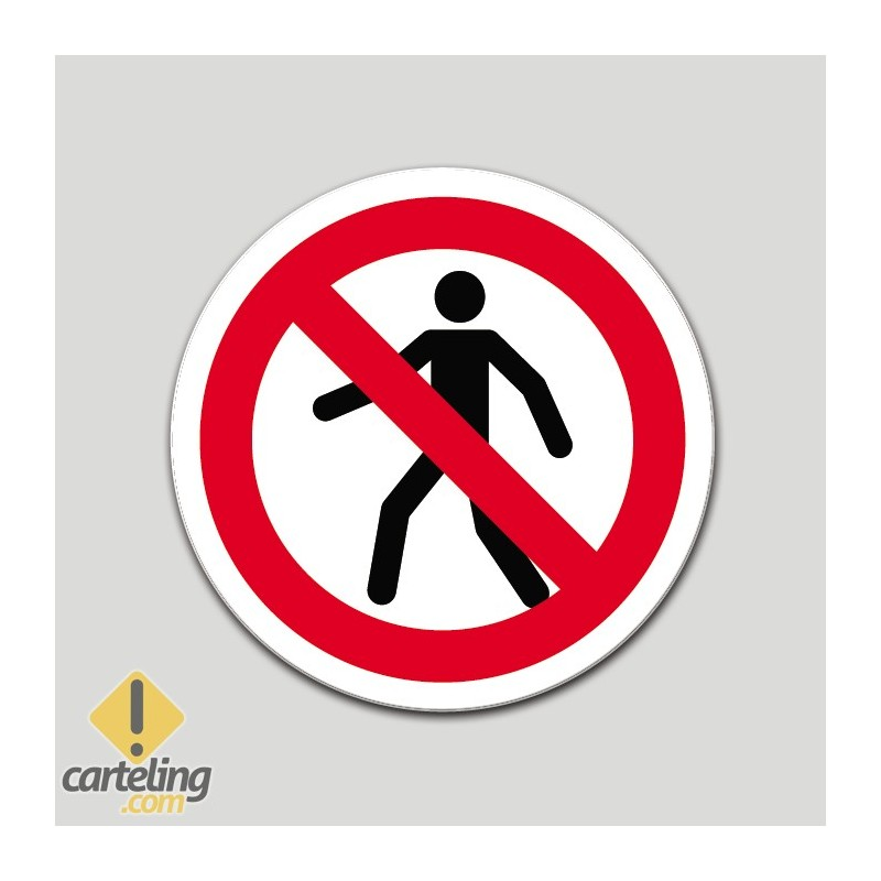 Prohibit el pas (pictograma)