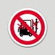 Prohibido transportar personas (pictograma) (10 etiquetas)