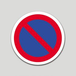 Prohibido aparcar (pictograma) (10 etiquetas)