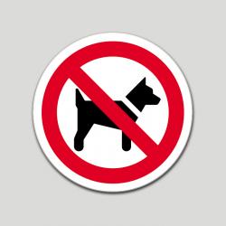 Prohibido perros (pictograma) (10 etiquetas)