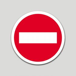 Prohibido el paso (pictograma) (10 etiquetas)