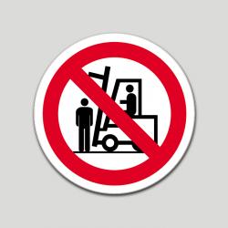 Prohibit situar-se sota la càrrega (pictograma)