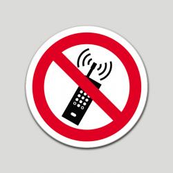 Prohibido el uso de teléfonos móviles (pictograma)