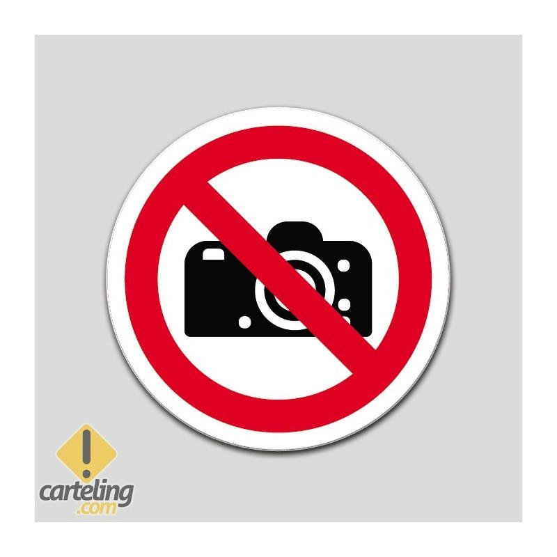 Prohibido hacer fotos (pictograma)