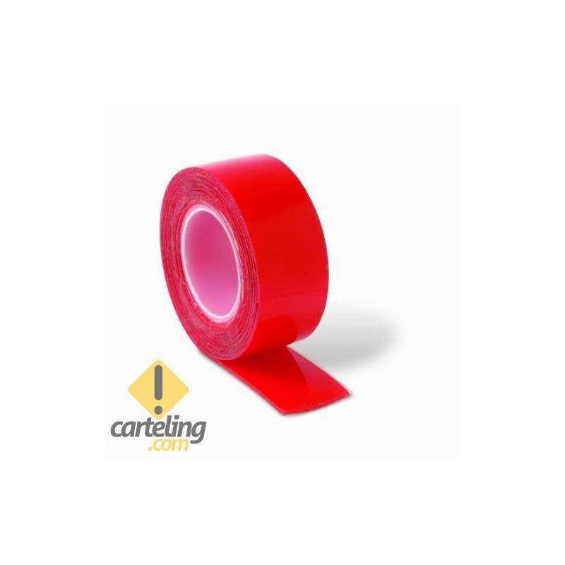 Cinta adhesiva 2 caras alta resistencia 1,5m x 19mm